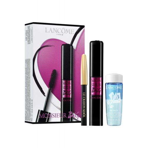Lancome Monsieur Big Set Mascara Noir en mini Crayon Kohl en Bi-Facil 30 ml
